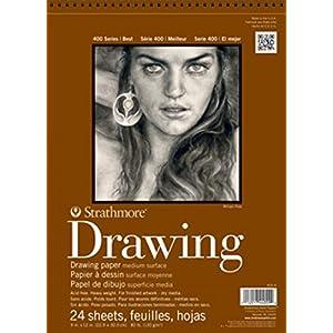 Strathmore (400-1 400 Series Drawing Pad, Medium Surface, 4″x6″, 24 Sheets