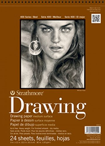 "Strathmore 400-3 STR-400-3 24 Sheet No.80 Drawing Pad, 8 by 10"", 8""x10"""