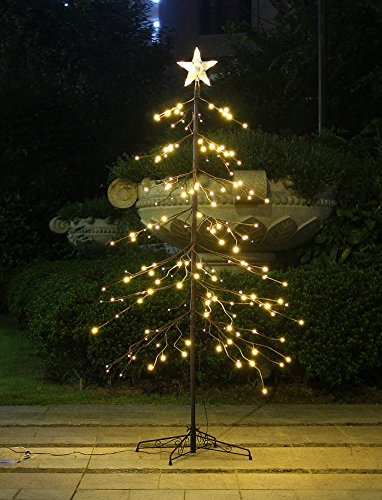 Bolylight 6ft LED Christmas Tree 198L Bulb with Star Treetop Great Decoration for Home/Party/Christmas,Warm White