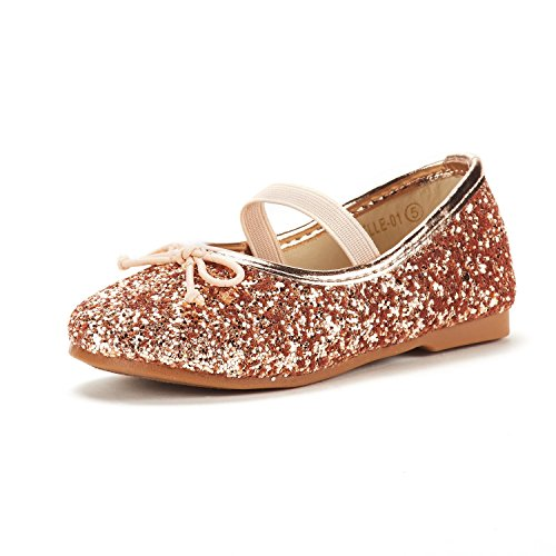 DREAM PAIRS Toddler Belle_01 Champagne Girl's Mary Jane Ballerina Flat Shoes Size 10 M US Toddler ()