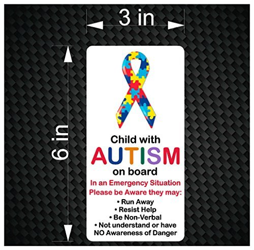 Child with AUTISM on Board - Emergency Awareness Car Vinyl B