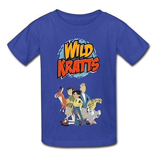 YWT Wild Kratts Kid's T-shirts Vintage Size S RoyalBlue