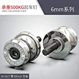 PinShang Lifting Screw Large Row Motorcycle Refitting Frame Screw Spirit beast car nail L2 silver 6MM Please see the size