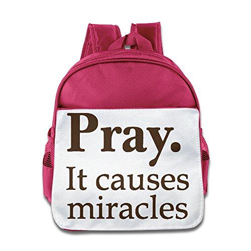 (Ysov Pray It Causes Miracles Children Pre School School Bag Pink)