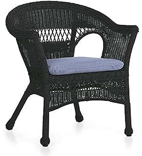Lovely Easy Care Resin Wicker Chair, In Black