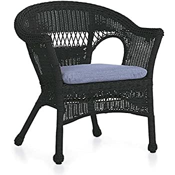 Amazon Com Plow Amp Hearth Easy Care Resin Wicker Chair