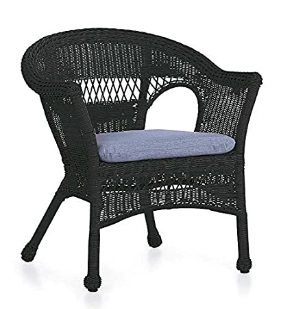 Incroyable Easy Care Resin Wicker Chair, In Black