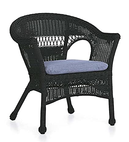 Easy Care Resin Wicker Chair, In Black