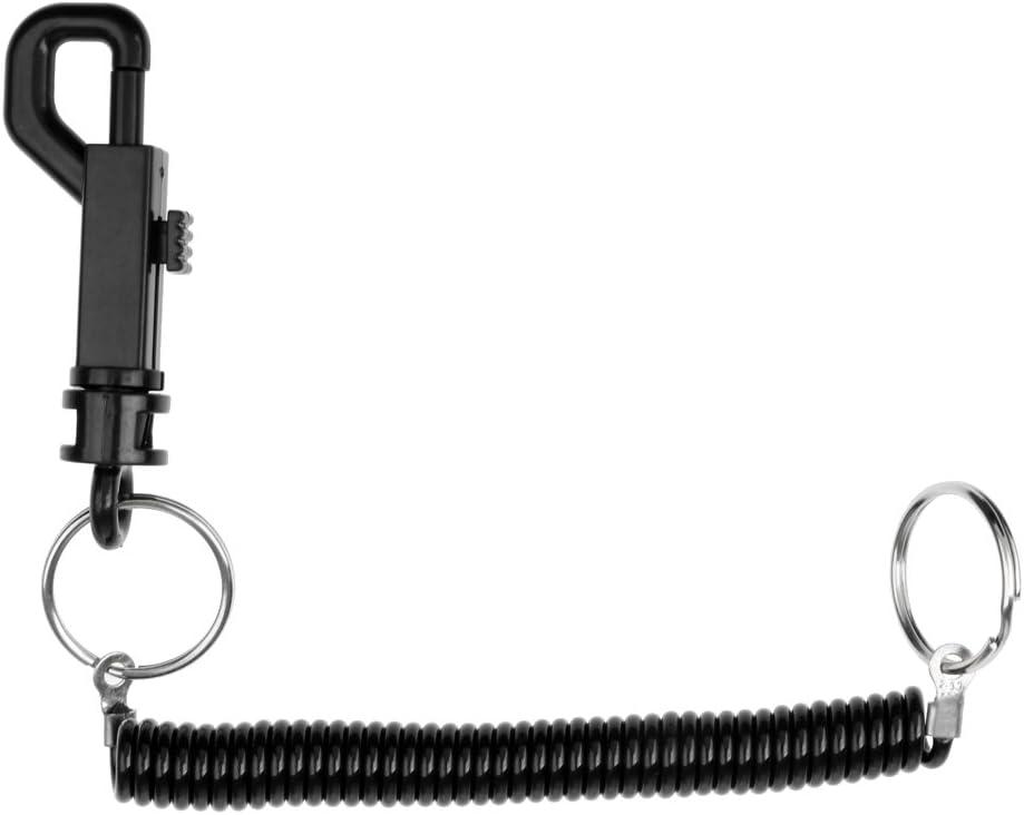 FITYLE Spiralkabel mit Karabiner Handschlaufe Schl/üsselanh/änger Schl/üsselband