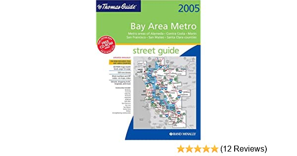 Bay Area Subway Map.Thomas Guide 2005 Bay Area Metro Street Guide And Directory Metro