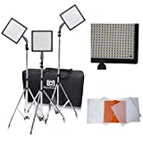 Nanguang 576 LEDs Dimmable Photography Lighting Ultra High Power Portable Led Video Light Panel Kit with Light Stand