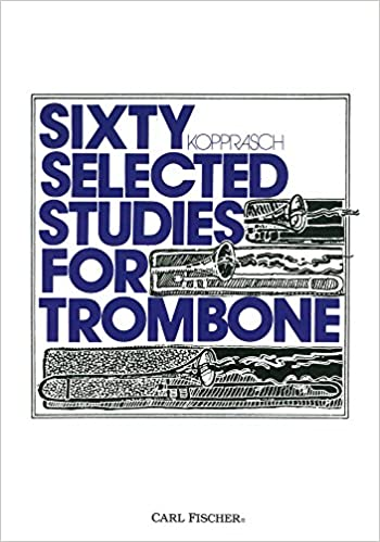 Kopprasch Studies 60 Selected Book 2 Trombone Without Return Musical Instruments & Gear