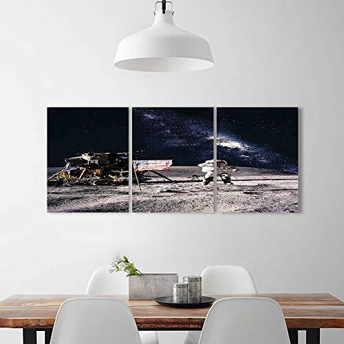 Wall Art Living Room Decor 3 Piece Set Frameless on Rocky Su