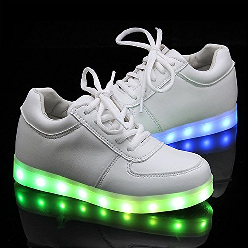 Glowing Shoes Colorful Adults Rechargeable Shoes Light NEW For Casual Up Gerald Choi With Zapatos Shoes White Mujer Luminous Led Lovers Women Usb nwqTc6IY