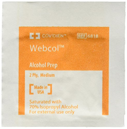 Kendall Covidien Alcohol Prep Pads, 200 (Wrapped Packets)