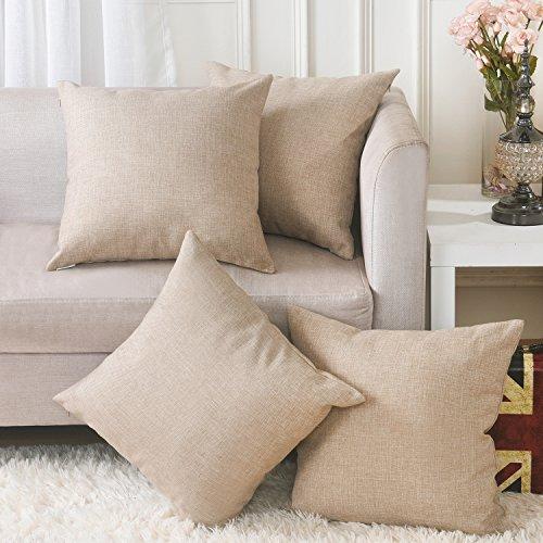 Home Brilliant Decorative Faux Linen Squ - Fabric Square Sofa Shopping Results