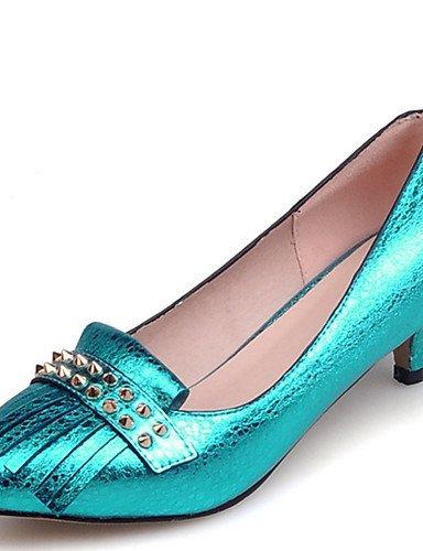 GGX/Schuh Damen Stiletto Ferse Spitz Nieten Pumpe mehr Farbe erhältlich yellow-us8.5 / eu39 / uk6.5 / cn40