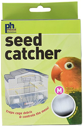 Prevue Pet Products Seed Guard Nylon Mesh Bird Seed Catcher, 8-Inch, Medium, color may vary
