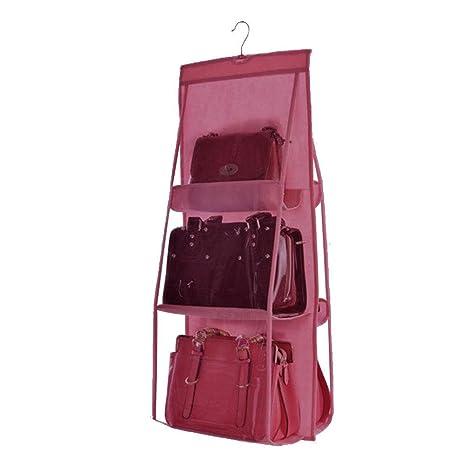 transparente Organizador de bolsos para colgar 6 bolsillos grandes SANDIN
