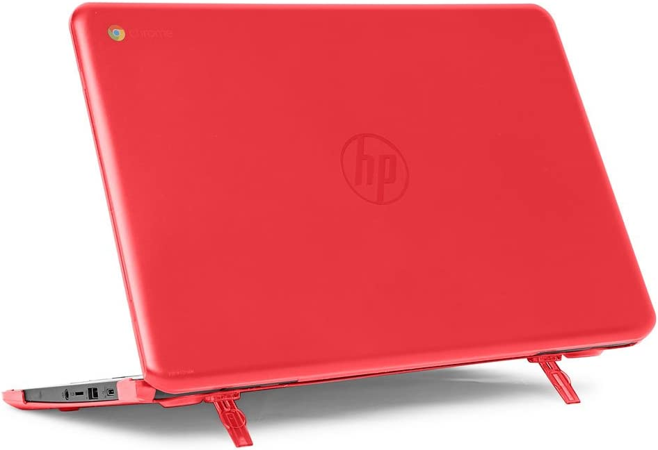 "mCover Hard Shell Case for 14"" HP Chromebook 14 G5 / 14-CA / 14-DB Series (NOT Compatible with Older HP C14 G1 / G2 / G3 / G4 Series) laptops (HP C14-G5 Red)"