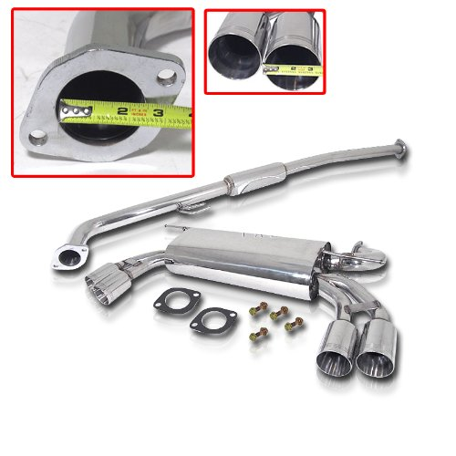 2009 Genesis Exhaust 2.0t Turbo Stainless Catback System w/ 3.5
