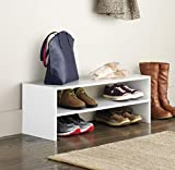 Whitmor Wood Stackable 2-Shelf Shoe Rack, 31