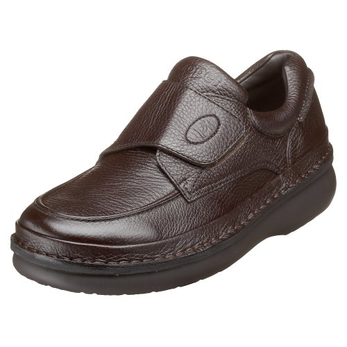 Propet Mens M5015 Scandia Strap Slip-On Dark Brown Grain RMUtQLDD