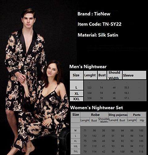Vestaglie V Biancheria Pigiama Rosso Gowns uomo in seta Accappatoi pigiama accappatoio Lighweight Uomo da vestaglia collo cintura Kimono Notte TieNew HIYxZq