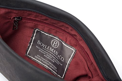 Charcoal Co Para amp; Mano Boyleman Black De Interior Hombre Cartera Burgundy With 0wx4nnTO