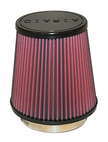 Airaid 700-453 Universal Clamp-On Air Filter: Round Tapered; 4 in (102 mm) Flange ID; 6 in (152 mm) Height; 6 in (152 mm) Base; 4.625 in (117 mm) Top