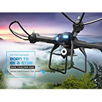 Owill JJRC H28W 2.4G 4CH 6-Axis Gyro RC Quadcopter Drones With 0.3MP WIFI Camera Image Transmission (Black)