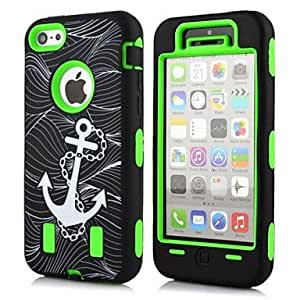 YXF 2 in 1 Anchor Robot Style PC and TPU Composite Case for iPhone 5C(Assorted Colors) , Purple