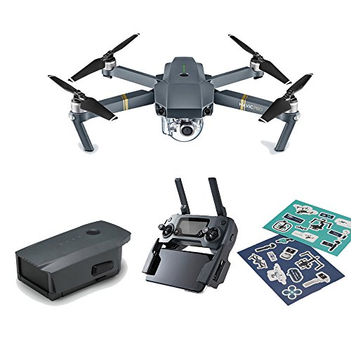 DJI Mavic Pro Refurbish Mini Portable Drones Quadcopter Bundle (Certified Refurbished) with New Intelligent Battery and Stickers Offered by DJI Official Store