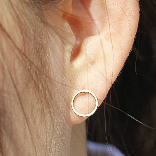 - Phonphisai shop Post Earrings Small Circle Stud Earrings Modern Gold Girls Geometric Jewelry
