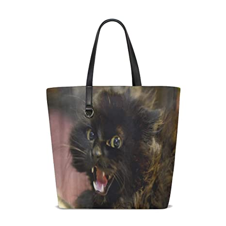Amazon.com: Feral Life For Cats Tote Bag Purse Handbag ...