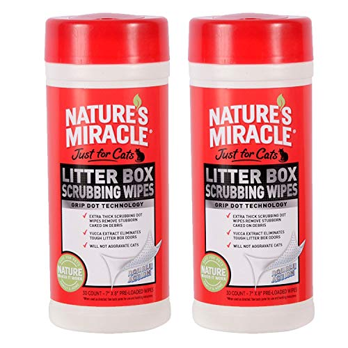 Nature's Miracle Just for Cats Litter Box Scrubbing Wipes,