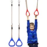 _YIFEIKU Co.,Ltd. Children Trapeze Bar Pull Up Gym Rings Kids Playground Home Swing Sets Accessories Exercise Fitness Indoor Outdoor Equipments (Blue)