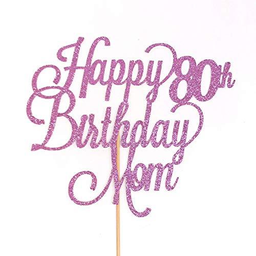 Decoración para tarta de cumpleaños de 80 cumpleaños con ...
