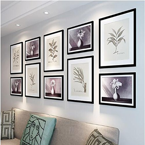 Anyer Combination Picture Frame Mliving Room Modern Simple Decoration Picture Frame Wall Hanging Combination Photo Wall (24090CM),A Light Rust Pine Metal