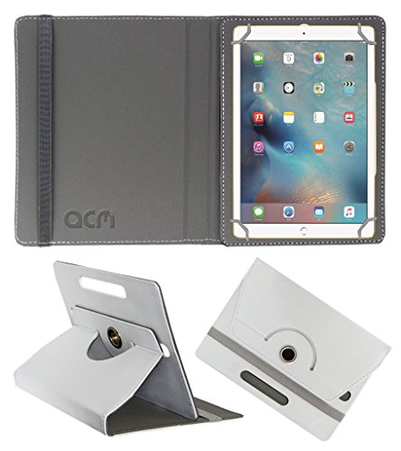 Acm Rotating 360 Leather Flip Case Compatible with Apple Ipad Pro 9.7 Tablet Cover Stand White
