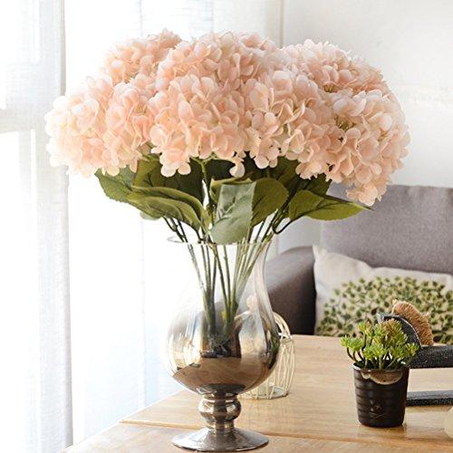 Youngman 5 Heads Hydrangea Beautiful Artificial Flower Bunch Bouquet Home Wedding Decor - Stem Hydrangea
