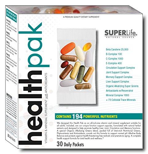 Super Vitamin Pak 30 Packets - Super Life Health Pak 30-Day Supply (Daily Packet - Vitamin Formula)