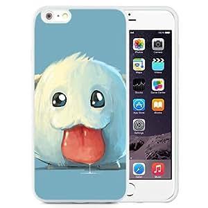 6 Plus TPU case,League Of Legends Poro Art Tongue White iPhone 6 Plus TPU cover