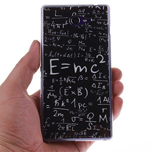 Funda Silicona Sony M2, KATUMO® Carcasa Dura Transparente Gel para Sony Xperia M2 Funda Goma Caja Cubierta Clear Cover-Diente Blanco Fórmula