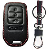 RPKEY Leather Keyless Entry Remote Control Key Fob Cover Case protector For Honda Accord Civic CR-V CR-Z HR-V Pilot ACJ932HK1210A 72147-T2A-A11 72147-T2A-A21