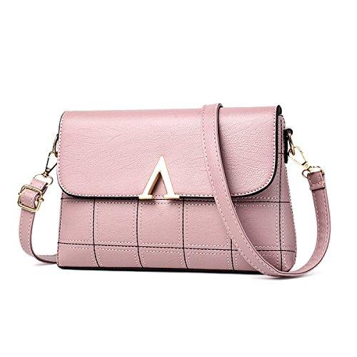 Bolso De Hombro Para Mujer CHFUD PU Casual Simple Atmósfera Elegante Pink