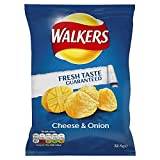 Walkers Cheese & Onion Flavour Crisps 48 x 32g Bags