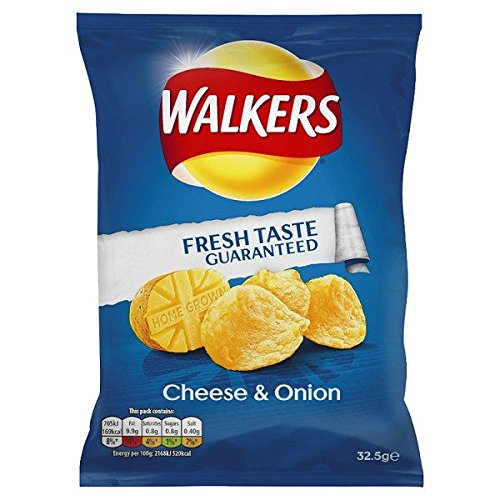 Walkers Cheese & Onion Flavour Crisps 48 x 32g Bags by Walkers (Image #1)