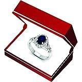 10K-Gold-Oval-Cut-Blue-Sapphire-Round-Cut-Diamond-Bridal-Split-Shank-Halo-Engagement-Ring