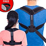 Posture Corrector For Women And Men - Free Neck Brace Premium Quality,Brace Thoracic Kyphosis,Adjustable Correct Brace,Shoulder Brace,Lower And Upper Back Pain Relief,COMFORTABLE EASY TO WEAR